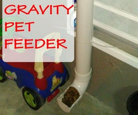 Gravity Pet Feeder Using PVC Pipes