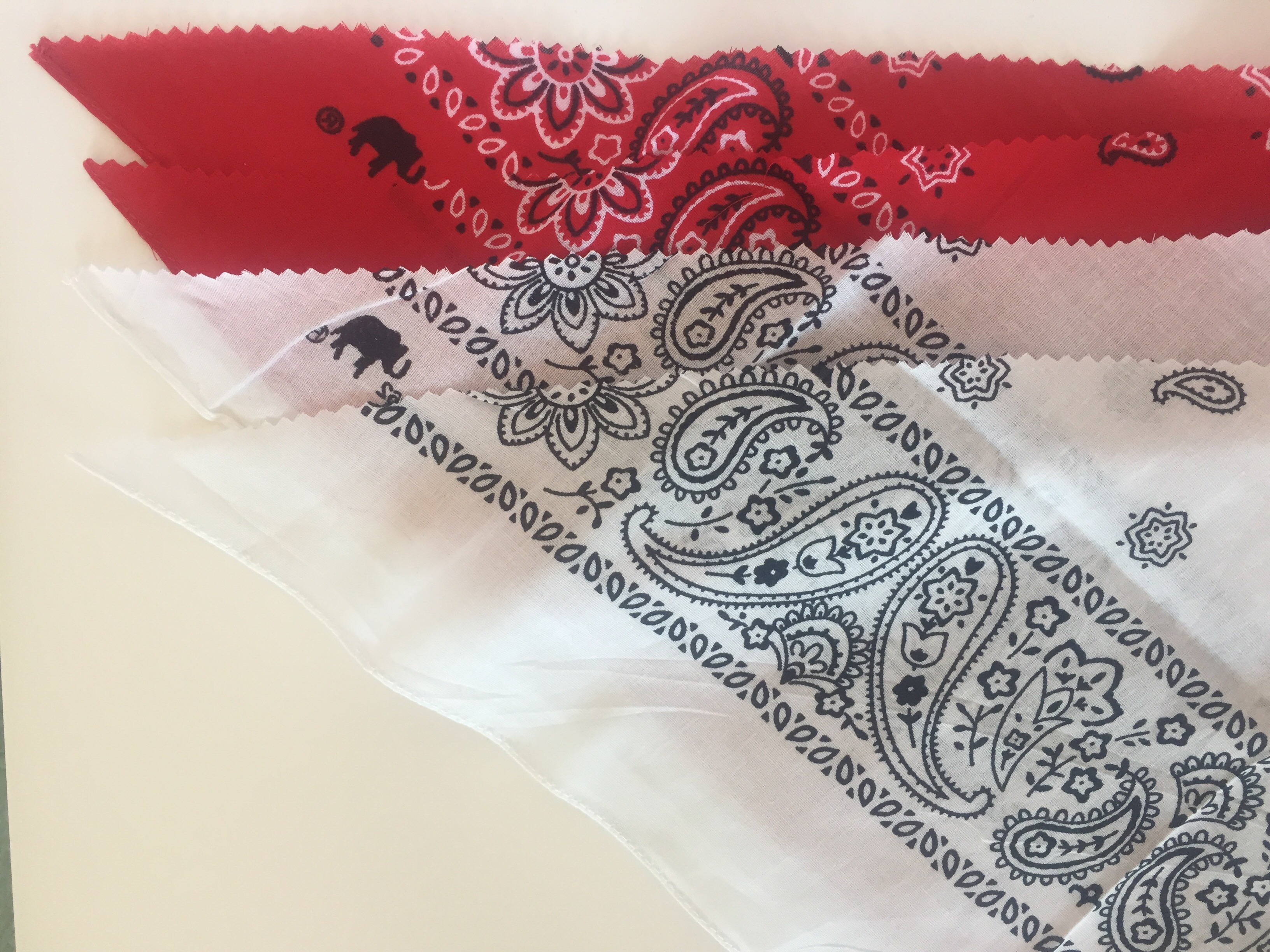Picture of Fold & Cut Bandannas in Half