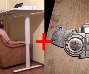 Poor Man's Electric Powered Standing Desk