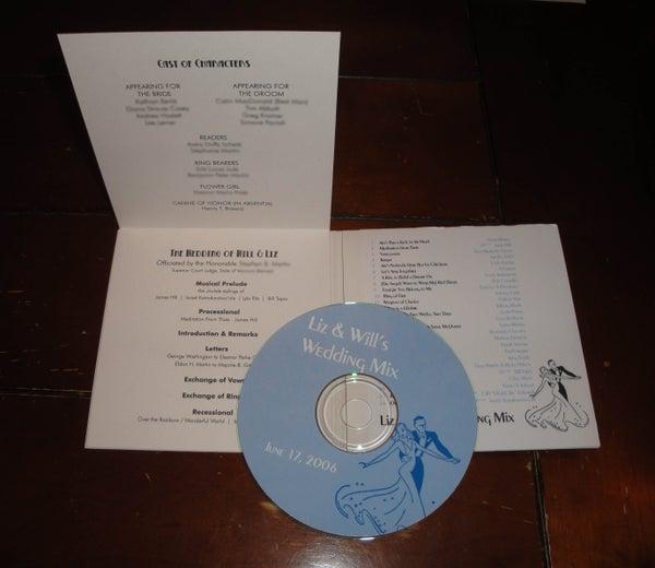 Wedding Program/Favor CD or DVD