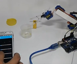 Smartphone / Tab Controlled ROBOT ARM !!