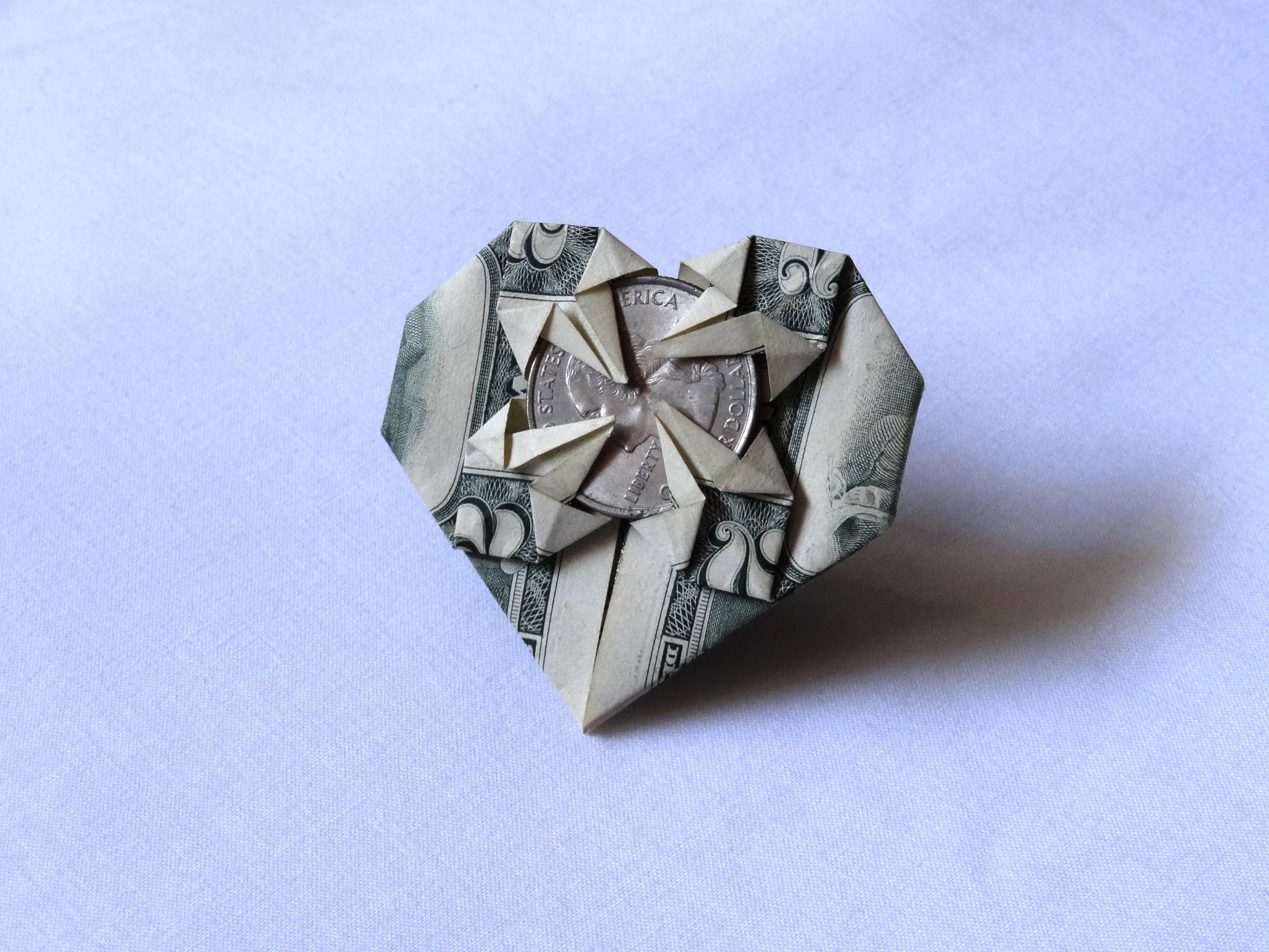 Decorative Money Origami Heart: Video Tutorial and Picture ... | 3456x4608