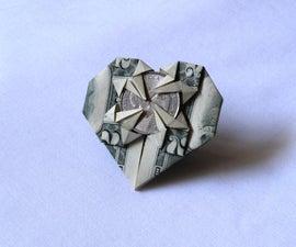 Dollar Bill Origami Heart