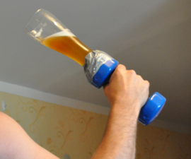 """Weighted drinking glasses - """"Beerbells"""""""
