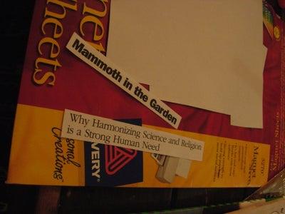 Ransom Note Magnetic Fridge Poetry