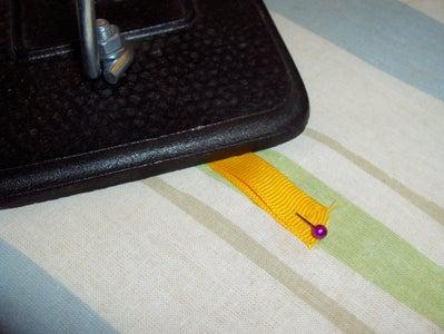 "Step 7: 1"" Grosgrain Fold-over Trim"