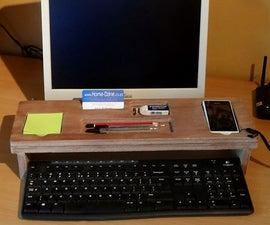 PC keypad stationery holder
