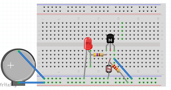 B: Assembly Diagram of the Circuit on Breadboard.