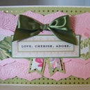 How to make Pink Beautiful Trimming Embossed Card