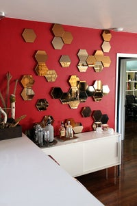 Hang the Hexagons & Install the Mirrors