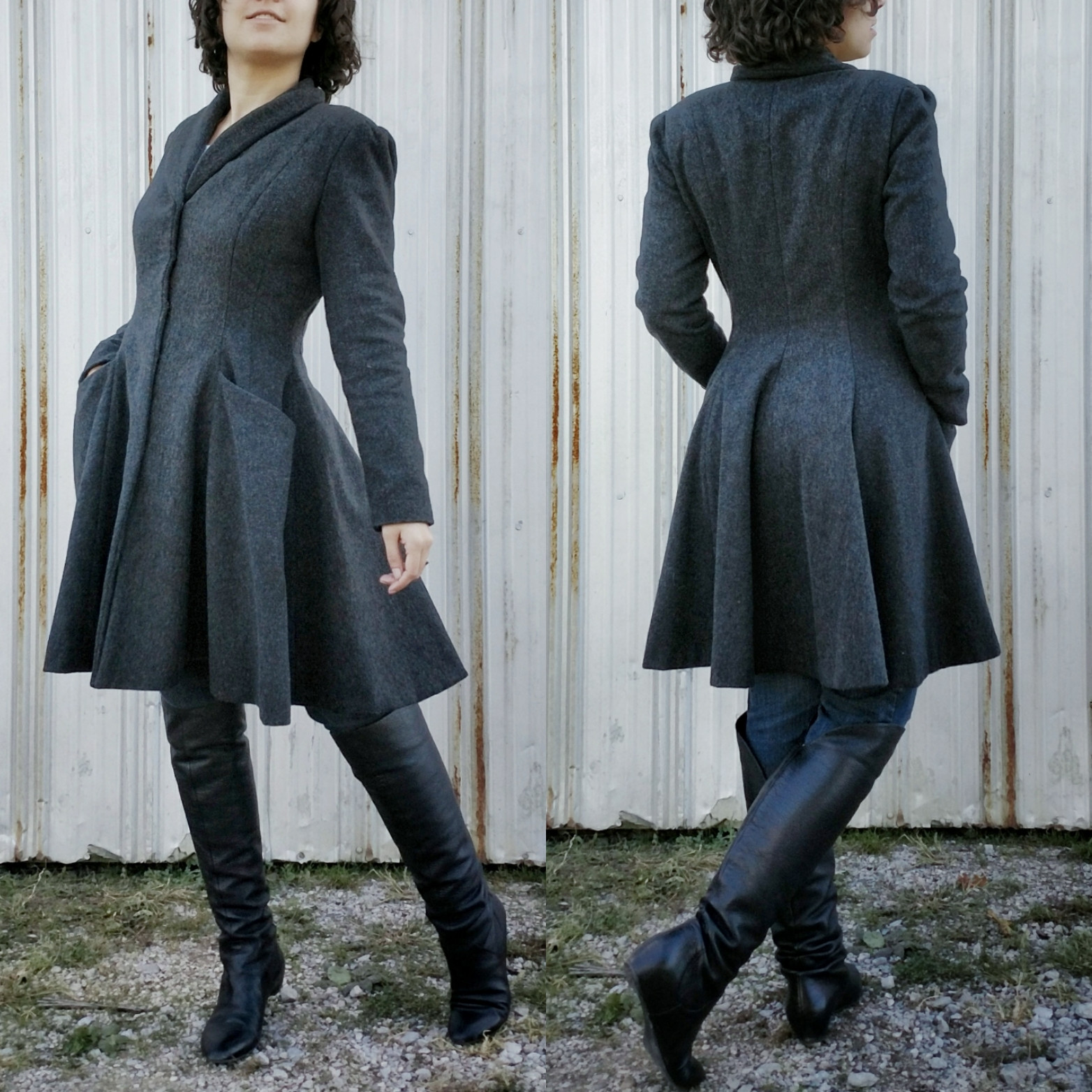 Picture of Charcoal Gray Winter Coat