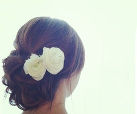 Elegant jewelry for valentines day- tutorial of how to make hair ornaments