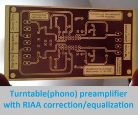 Turntable(phono) Preamp With RIAA Correction