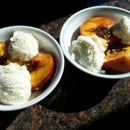 Grilled Peaches and  Ice Cream