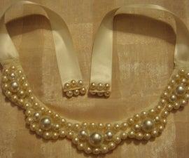 DIY necklaces- bib chunky pearl necklace