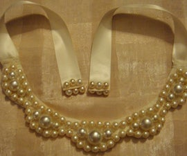 DIY necklaces- bib chunky pearl necklace