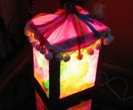 Beautiful Handmade Corner Lamp