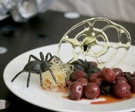 Spooky Spun Sugar Spiderweb Dessert for Grownups
