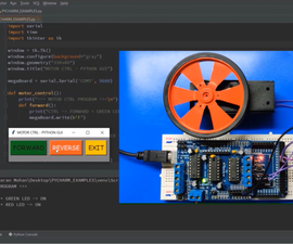Python (pySerial) + Arduino + DC Motor