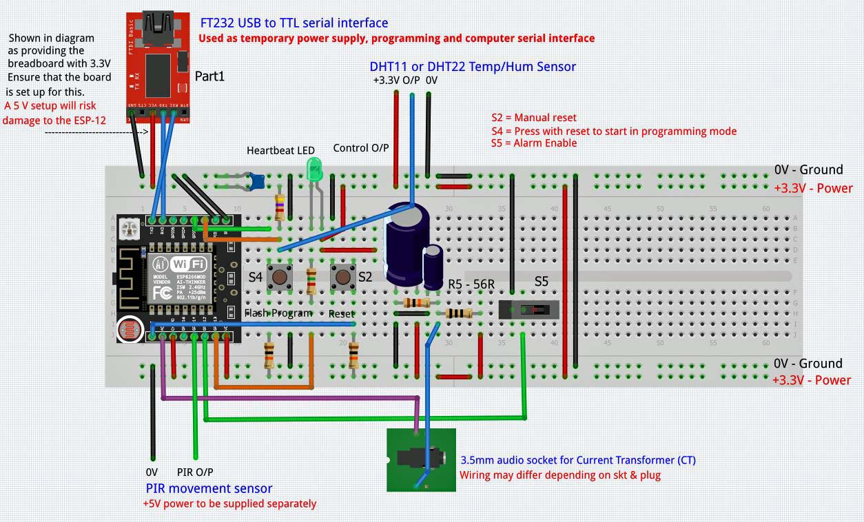 Picture of Hardware - Wiring the Breadboard ... the Minimum Configuration