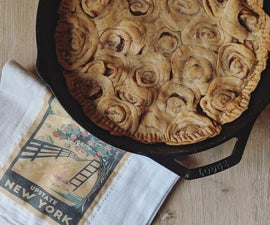 Apple Pie W/ Cinnamon Roll Crust