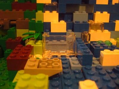 Lego Mountain and Waterfall