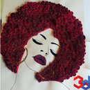 Curly Woman (paper Quilling)