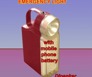 EMERGRNCY LIGHT With Mobile Phone Battery