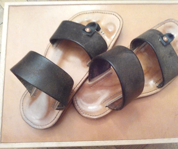 My First Diy-measure-made Leather Sandals.
