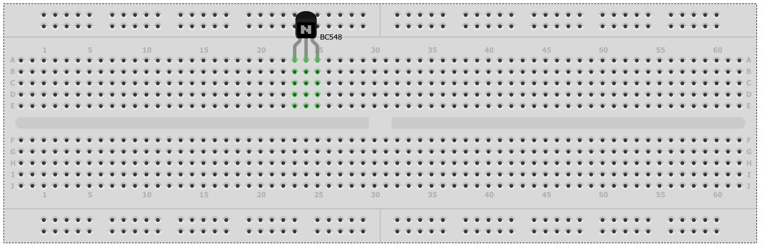 Picture of Placing the Transistor on Breadboard