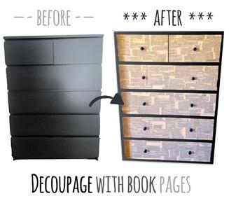 Beautify an IKEA Malm Dresser With Decoupage Technique