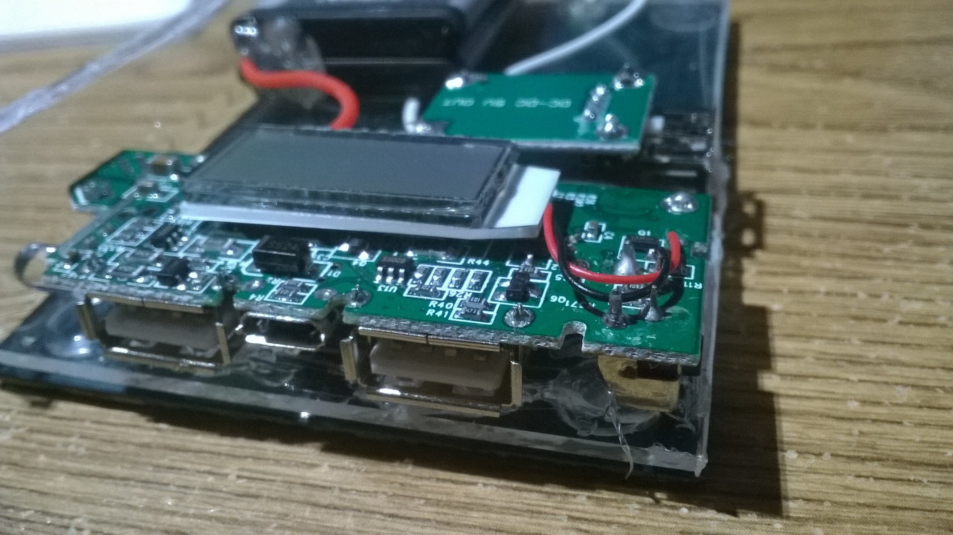 Picture of Solder Your Wires (LCD Boost Module to Batteries)
