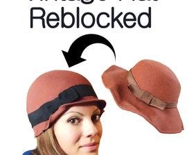 Reblocking A Vintage Felt Hat - Cheap & Easy