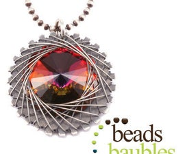 Spiro Pendant Necklace Using Swarovski Crystals with Lisa Niven Kelly at Beaducation - Step by Step Jewelry Making Video Tutorials