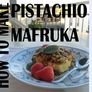 Pistachio Mafruka مفروكة الفستق والقشطة (Arabic Dessert)