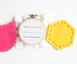 Sewing Running Stitch Coasters