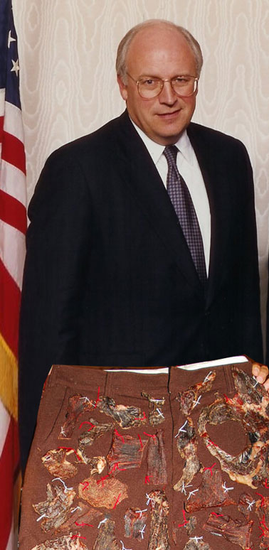 Picture of Dick Cheney Supports Meatshorts, War and Puddin'