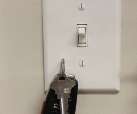 Car key magnetic switch plate hook