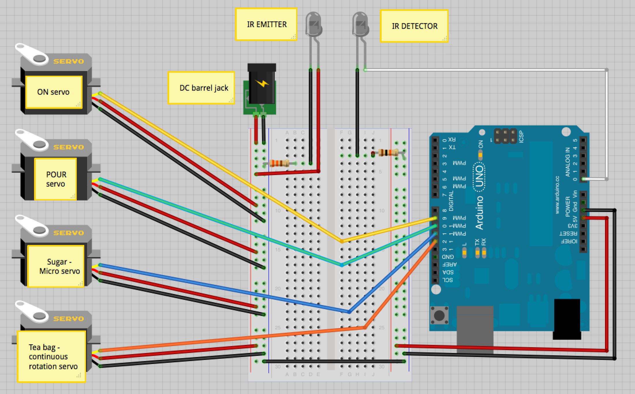 Picture of Connect Everything to the Arduino