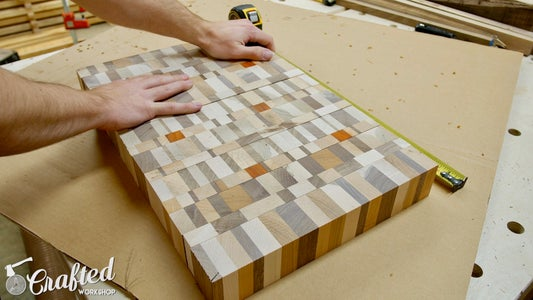 Cut End Grain Slices From Cutting Board Blanks