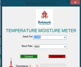 Arduino and Visual Basic RF Over Temperature Humidity Measurement