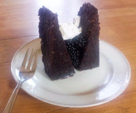 Courgette & Chilli Chocolate Cake (with carob & blackberries)