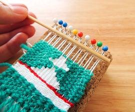 Miniature Pin Weaving | DIY Woven Mini Wall Hanging