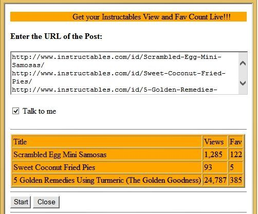 Automated Instructable Views And Favorites Checker 3 Steps With