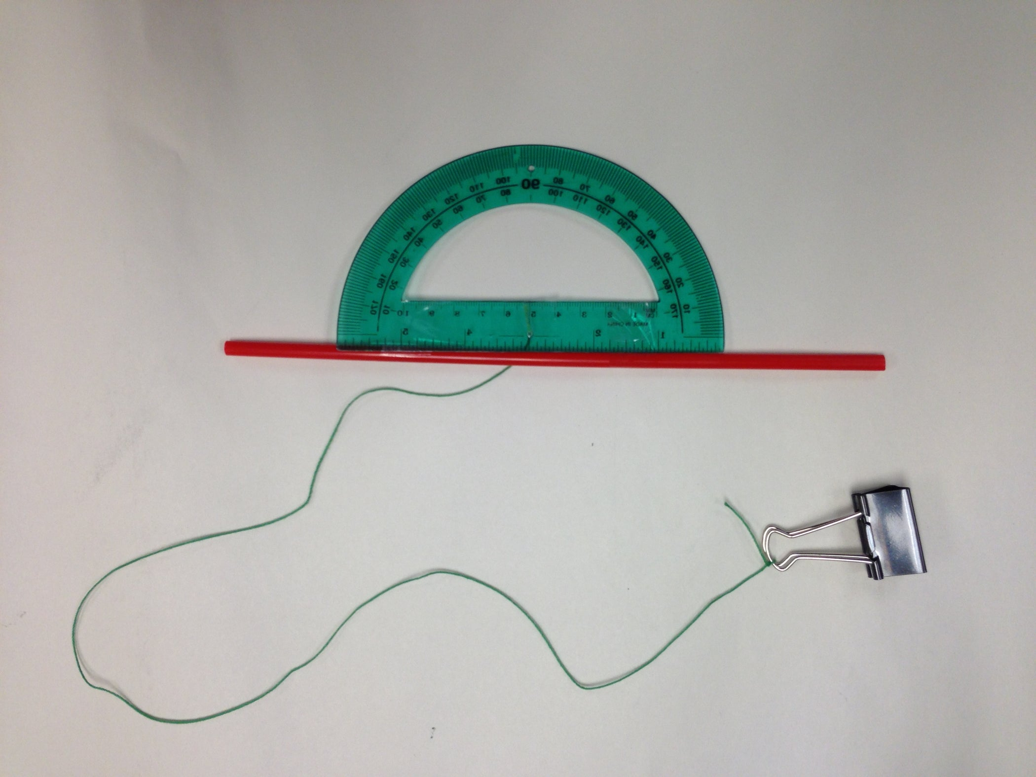 Basic Clinometer From Classroom Materials 4 Steps Inclinometer Wiring Diagram