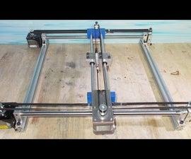 DIY Mini Laser Engraving Plotter Frame Homemade Y Axis Slde CNC