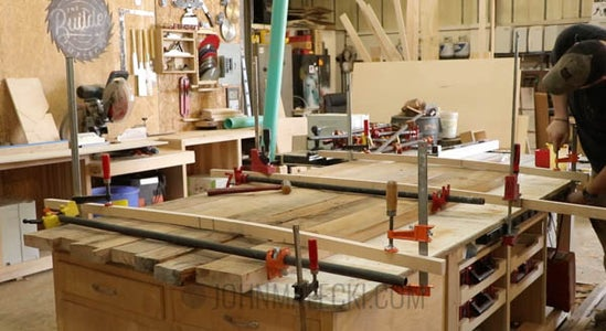 Top Glue Up : Glue Up and Flatten