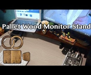 Pallet Wood Monitor Stand