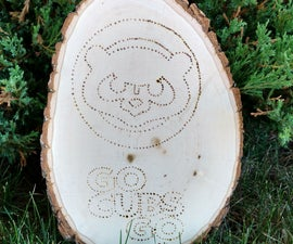 Woodburned Cubs Sign