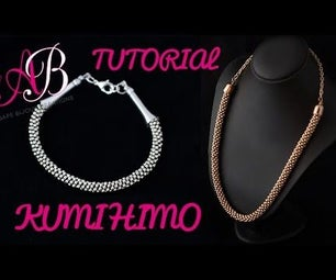 Kumihimo Beaded Necklace With English Subtitles